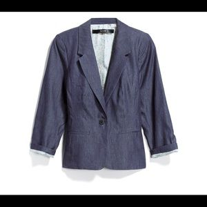 Kensie xs Chambray 3/4 sleeve jacket
